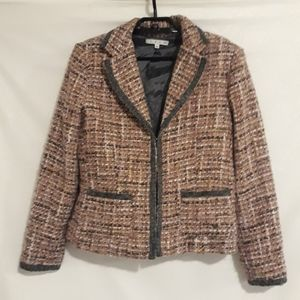 Cabi pink and gray tweed blazer